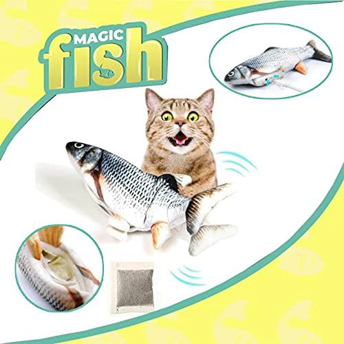 ISL Magic Flippity Fish Katzenspielzeug, bewegt Sich wie EIN echter Fisch, inkl. Katzenminze - Fisch...