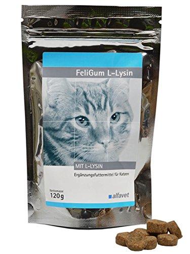 FeliGum L-Lysin Weiche Kaudrops mit sehr guter Akzeptanz unterstützend bei Katzenschnupfen.