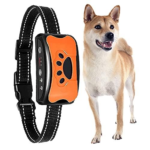 Antibell Halsband Hund Automatisch,HEYDRPET Anti bellen Halsband No-Schock Wasserdicht,erziehungshalsband...
