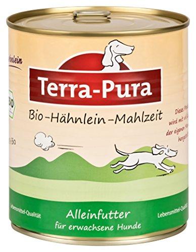 Terra Pura Bio-Hundenassfutter Hähnlein, 6er Pack (6 x 800 g)