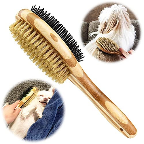 KTL Hundebürste & Katzenbürste, Doppelbürste für Hunde und Katzen, Pin Hundebürste für Knoten &...