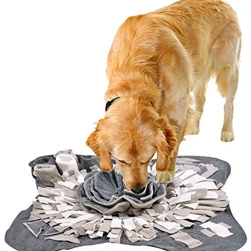 IEUUMLER Schnüffelteppich für Hunde Riechen Trainieren Intelligenzspielzeug Futtermatte Trainingsmatte...