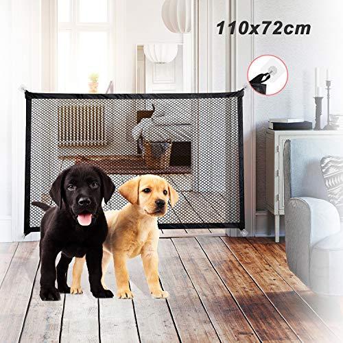 Absperrgitter Hund, Türschutzgitter Baby Tragbar Treppenschutzgitter Sicherheitsgitter, Magic Gate für...
