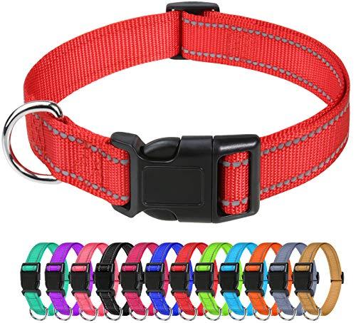 TagME Nylon Hundehalsband, Verstellbares Reflektierendes Hundehalsband mit Sicherheitsschnalle für Extra...