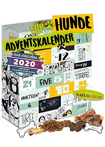 Hunde Adventskalender mit 24 Leckeries für den Vierbeiner I Hundesnacks für die Adventszeit I...