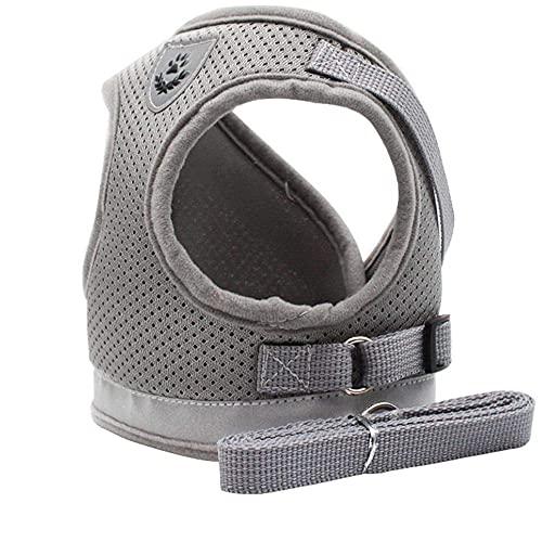 Weiches Katzengeschirr / Hundegeschirr aus Luftnetz, verstellbar, sichere Kontrolle, Welpengeschirr für...