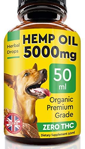 Pawfectchow Hanföl für Hunde und Katzen - 50ml - 5000MG - Hanfextrakt Made in UK - 100% natürliches...