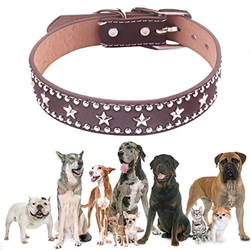 SWETIY Hundehalsband, Kristallweiches Strapazierfähiges Leder-Halsband Für Den Alltag Und Party Show,...