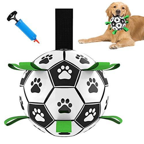 G.C Hundespielzeug Ball Fußball Hund Interaktives Hundeball für Welpe kleine Hunde 15 cm Zerrspielzeug...