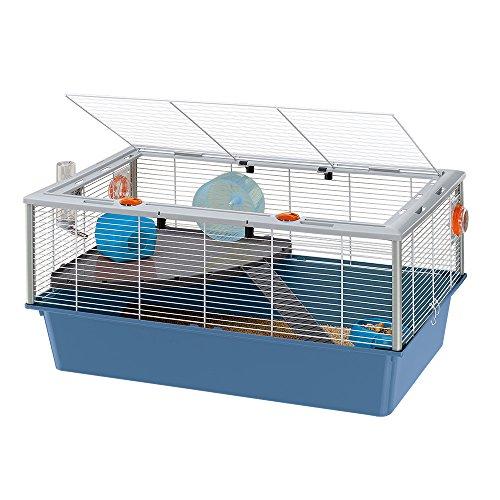 Ferplast Käfig für Hamster, Mäuse oder kleine Nagetiere Criceti 15 Hamsterkäfig mit Zwei Ebenen,...