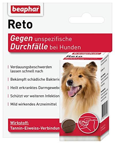 beaphar Reto Durchfalltabletten, zur Behandlung von Durchfall und Verdauungsbeschwerden bei Hunden, 30...