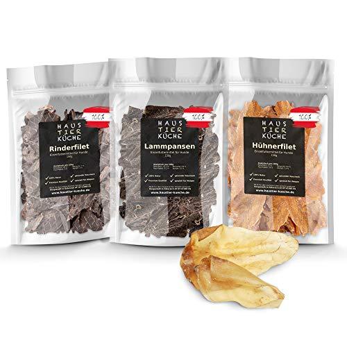 Haustier-Küche® - Premium Welpen Mix Natur Kauartikel 4er Set   extra verträglich für Hunde mit...