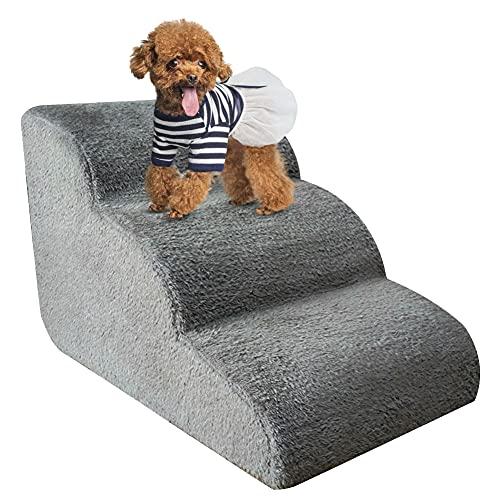Bounabay 3 Stufen Haustiertreppe, hundetreppe bett für kleine hunde, hunderampe sofa boxspringbett ,...