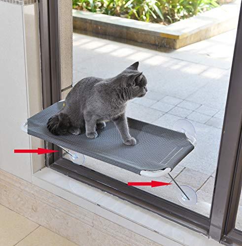 LSAIFATER Rundum 360° Sonnenbad mit unteren Stützen aus Metall, Katzen-Fenstersitz, Katzenhängematte,...