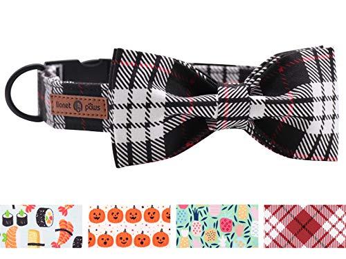 lionet paws Hundehalsband, langlebig, verstellbar, Metallschnalle, Halsband mit Fliege für kleine Hunde,...