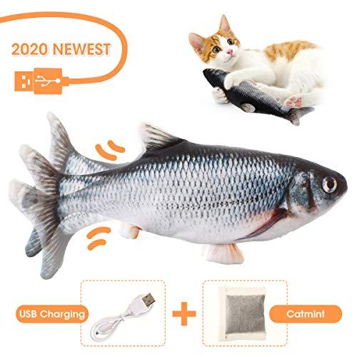 Charminer Elektrisch Spielzeug Fisch, Katze Interaktive Spielzeug USB Elektrische Plüsch Fisch Kicker...