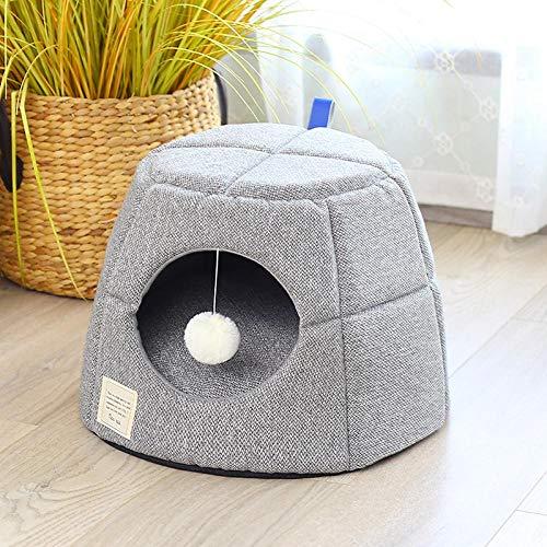 SYQY Katzenstreu für Vier Jahreszeiten Universal Winter Warm Pet Dog Wurf Katzenbedarf-L.