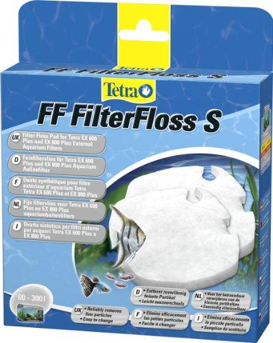 Tetra FF FilterFloss S - Feinfiltervlies für die Tetra Aquarium Außenfilter EX 400 Plus / EX 600 Plus /...