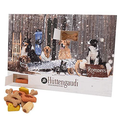 Romneys Adventskalender 2020 für Hunde | 24 Türchen mit Leckerchen | Leckere Snacks für die...