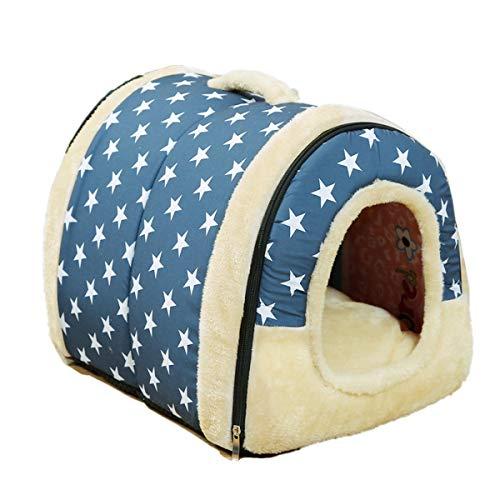 JZK Weich warm Hundehöhle Katzenhöhle, tragbar Faltbare Katzenhaus, Mini Hundebetten, Haustier Nest...