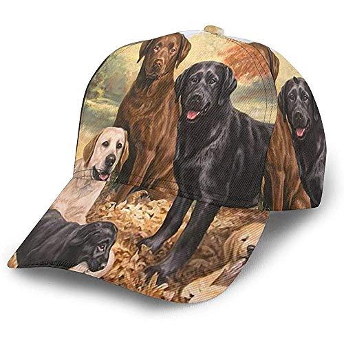 Egoa Kappe Schöne Labrador Retriever Dog Art Nette Hunde Mode Papa Hut Baseballkappe Trucker Hut...