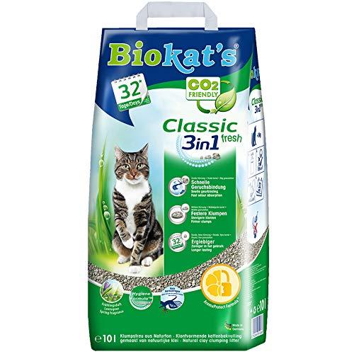 Biokat's Classic fresh 3in1 mit Frühlings-Duft - Klumpende Katzenstreu mit 3 unterschiedlichen...