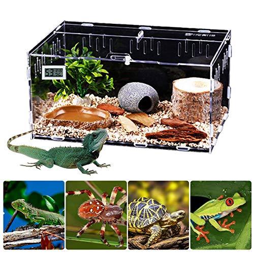 funnyfeng Aquarien, Reptilien Box Acryl Terrarien für Reptilien Amphibien, Zuchtbehälter Terrarium für...