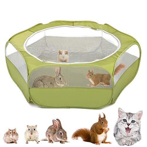 VavoPaw Kleintiere Laufstall, 190T Polyestertaft Atmungsaktiv Netz Visuell Reißverschluss Haustier...