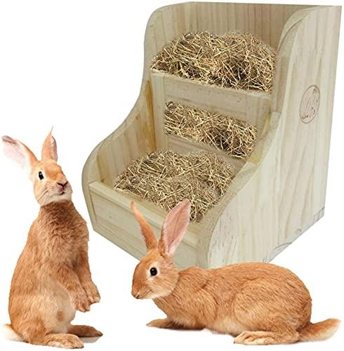 2 In 1 Kaninchen Raufe Futterautomat, Kaninchen Zubehör Meerschweinchen-futternapf, Gras Und...