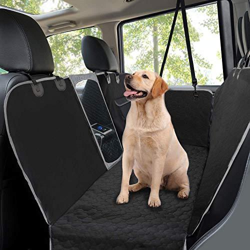 Taygeer Hunde Autositzbezug, Rücksitzbezug mit Netz-Sichtfenster Seitenklappen, Hundehängematte für...