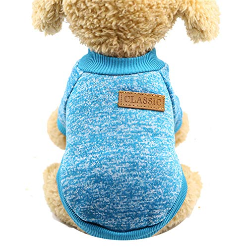 HJFDEW Dog Clothes for Small Dogs Soft Pet Dog Sweater Clothing for Dog Winter Chihuahua Clothes Classic...