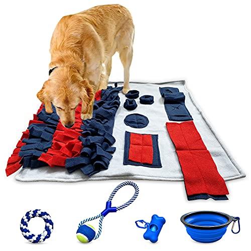 Schnüffelteppich Hund Intelligenzspielzeug Suchspielzeug Hund Schleckmatte Futterteppich Beschäftigung...