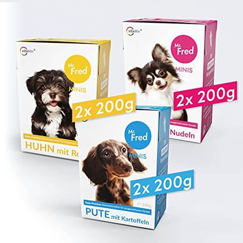 Mr. Fred- Hundefutter nass | Super Premium Nassfutter für Hunde | Probierbox 6 x 200g |...