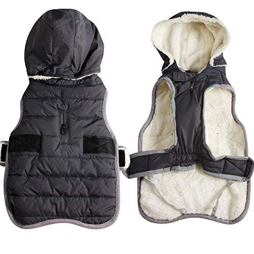 JoyDaog Fleece Hund Hoodie für kleine Hunde warme Welpenjacke für kalten Winter wasserdichte...