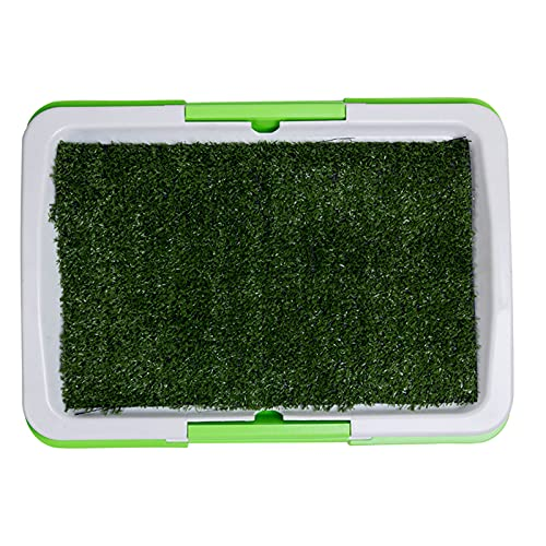 Hundes ilette Hunde klo Tragbare Hunde Toilette Indoor-Töpfchen mit dem Künstlichem Gras, abnehmbare...