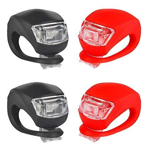 Kinderwagen Licht LED Blinklicht Clip-On Set Silikon Leuchte Lampe Taschenlampe für Kinderwagen,...