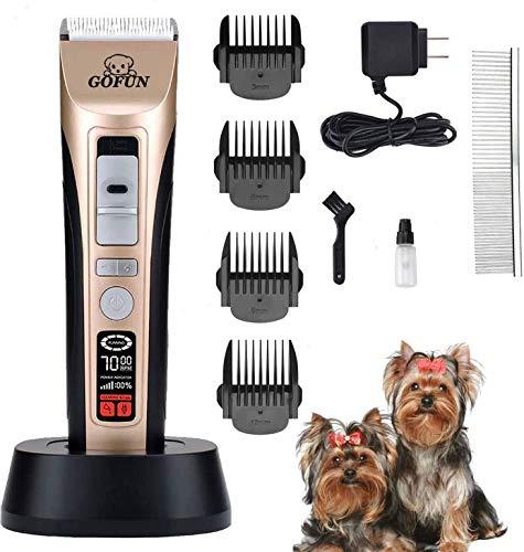 Hundeschermaschine - Tierhaarschneidemaschine Kit 5-Gang Schermaschine Hunde Trimmer für Hund Katzen...