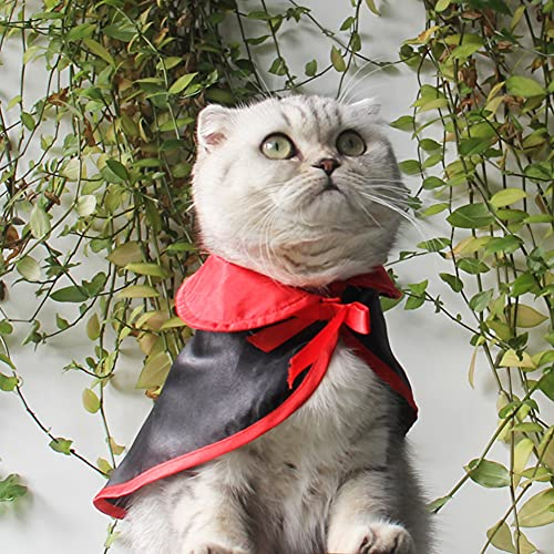 SOBW Hunde Kleidung Pet Wizard Vampire Cloak Hut Halloween Party Festival Kostüm Hund Cat Cape Kleine...