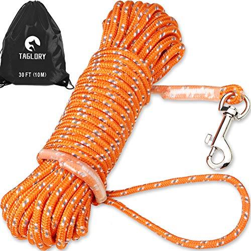 Taglory Schleppleine 10m für Hunde bis 20 kg, Lange Seil Ausbildungsleine Leine für Welpen und Kleine...