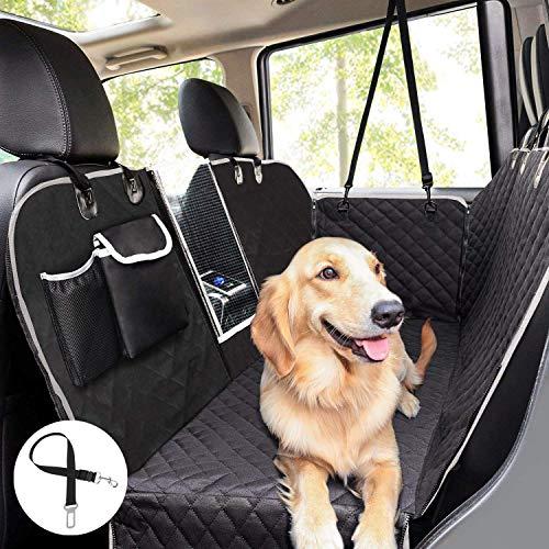 Pecute Hundedecke für Auto Rückbank mit Mesh Fenster,Kofferraumdecke für Hunde (146x136cm) Hand...