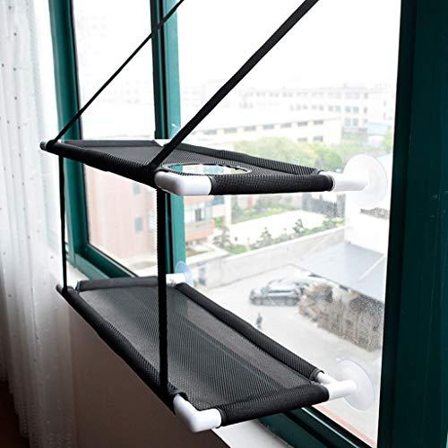 Amberzcy Nest Katzen-Hängematte, Katzenfenster-Hängematte, Saugnapf, doppellagig, 6 belastbare...