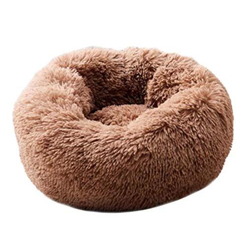 40-80cm großes Hundebett Warmes Fleece Donut Pet Lounger Kissen für kleine mittlere Katzen Winter...
