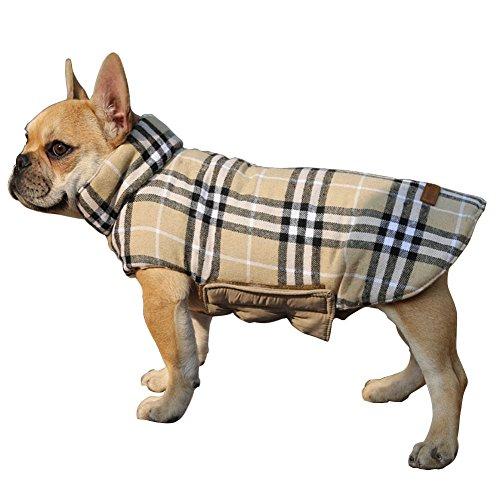 Outgoings Haustier hunde kapuzenpullis kleider reversible hund kälte mäntel outfit karierten...