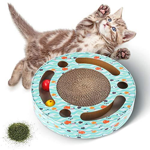 Katzenspielzeug Kratzbrett Kratzbretter katze, Interaktives Spielzeug für Katzen, Katzezubehör Katze...