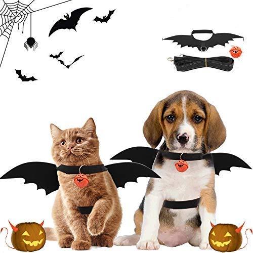 Halloween Katze kostüm,Halloween Hund kostüm, Haustier Fledermaus Kostüm für Cosplay Halloween...