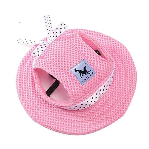 Hunde-Sonnenhut, verstellbar, Baseballkappe mit Ohrlöchern, Sommer-Haustier-Visier, Hüte für...