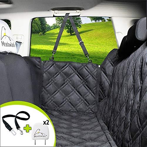 Meadowlark® Hundedecke für Auto Rückbank. Wasserdicht! Komplettschutz Comfort Autoschondecke für...