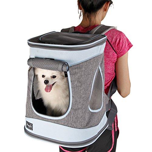 Petsfit Haustier Rucksäcke für Hund und Katzen Faltbarer Hunderucksack Katzen Rucksack für Reise,...