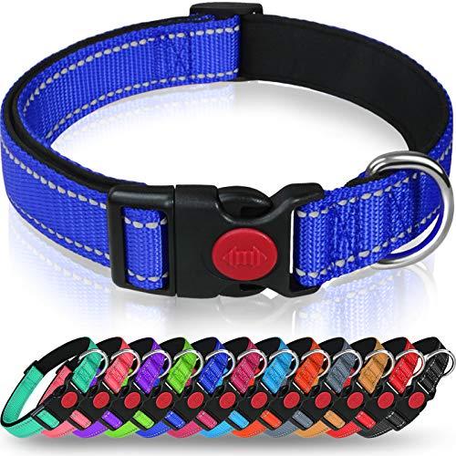 Taglory Hundehalsband, Weich Gepolstertes Neopren Nylon Hunde Halsband für Große Hunde, Verstellbare...