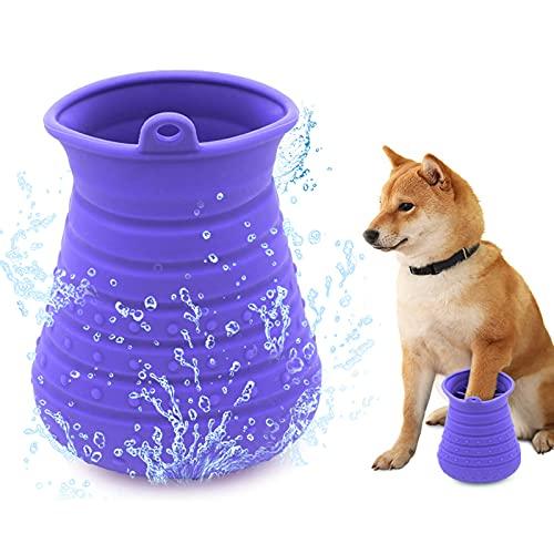 Idepet Hunde Pfote Reiniger,Haustier Pfotenreiniger mit Handtuch Dog Paw Cleaner für Hunde Katzen...